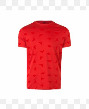 Printed T Shirt Red - T-shirt Neck PNG