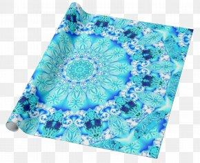 Delicate Lace - Aqua Turquoise Teal Cobalt Blue Textile PNG
