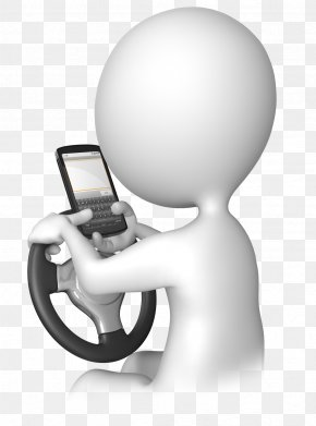 Driving - Texting While Driving Stick Figure Mobile Phones Clip Art PNG