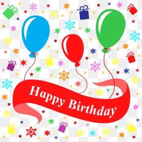 Happy Birthday Ball - Birthday Gift Poster Illustration PNG