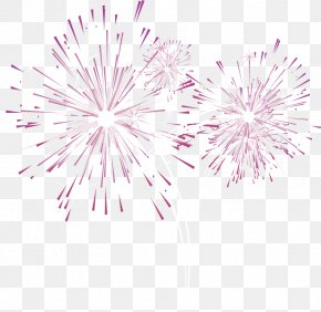 Purple Fresh Fireworks Effect Elements - Fireworks Purple PNG