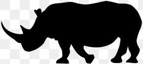 Rhinoceros Silhouette Clip Art - Rhinoceros Cattle Silhouette Clip Art PNG