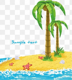 Coconut Tree Vector Material Decorative Patterns Free Buckle - Tree Euclidean Vector Illustration PNG
