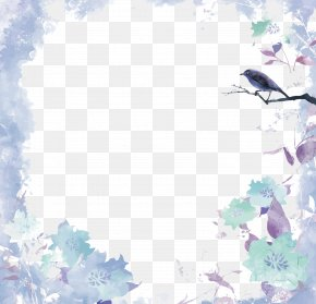 Vector Watercolor Border - Watercolor Painting Euclidean Vector PNG