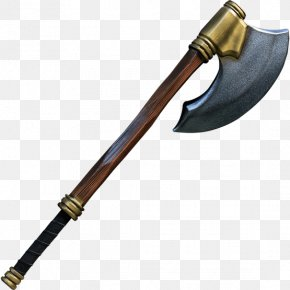 Axe - Battle Axe Weapon Larp Axe Middle Ages PNG