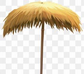 Straw Beach Umbrella Clip Art Image - Umbrella Clip Art PNG