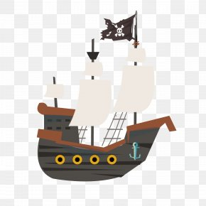 Cartoon Pirate Ship - Piracy Ship Cartoon PNG