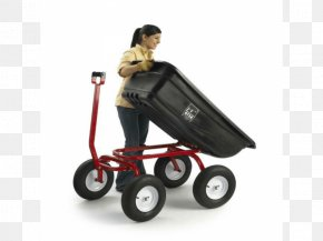 Push Cart - Wagon Cart Dump Truck Trailer PNG