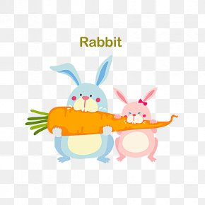 A Carrot Bunny - Easter Bunny Rabbit Carrot PNG