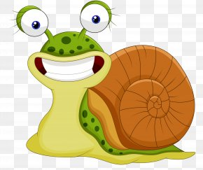 Smiling Cartoon Snail - Snail Cartoon Royalty-free Illustration PNG