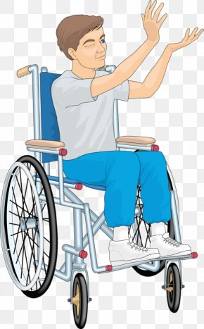 The Man Sitting In A Wheelchair - Motorized Wheelchair Sitting PNG