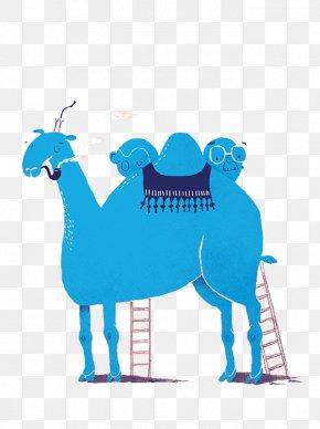 Blue Cartoon Camel - Camel Het ABC Van Gaston Durnez Desert Illustration PNG