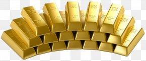 Gold - Gold Bar Bullion Gold Mining Metal PNG