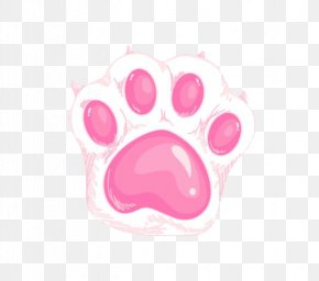 Pink Cute Cat Claws - Cat Dog Paw Kitten PNG