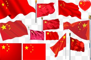 Chinese Flag - Flag Of China National Flag National Day Of The Republic Of China Red Star PNG