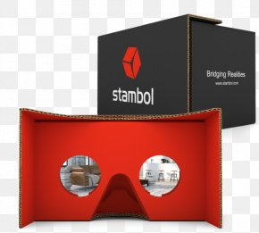 Cardboard Virtual Reality Headset - Google Cardboard Virtual Reality Glasses Stambol Studios Samsung Gear VR PNG