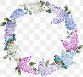 Romantic Flower Circle PNG