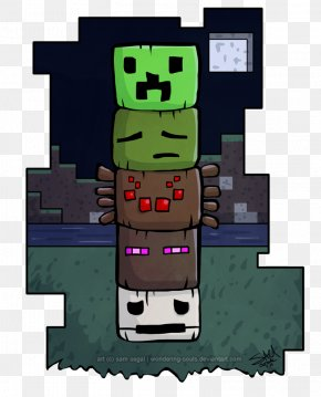 Minecraft - Minecraft Video Game Totem Pole Mob PNG