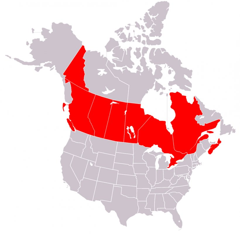 Canada United States Blank Map, PNG, 1048x1024px, Canada ...