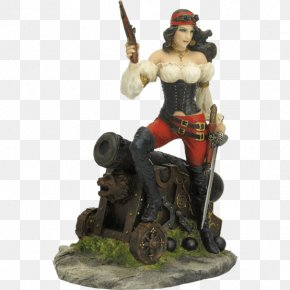 Pirate Woman - Statue Figurine Golden Age Of Piracy Sculpture PNG