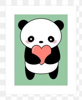 T-shirt - Giant Panda Cuteness T-shirt Kavaii Bear PNG