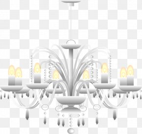 Candle Chandelier - Light Fixture Chandelier Candle PNG