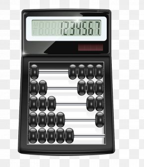 Black Calculator - Abacus Calculator Calculation Stock Photography PNG