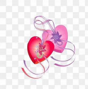 Heart-shaped Gift Box Vector Design Material - Euclidean Vector Clip Art PNG