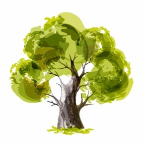 Tree - Paper Tree Drawing Watercolor Painting PNG