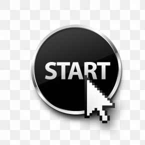 The Start Button - Button Arrow Pointer Download PNG