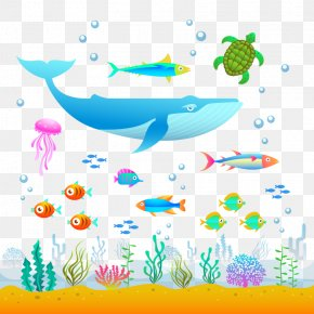 Vector Deep-sea Animals - Graphic Design Illustration PNG