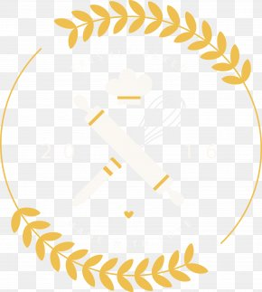 Cartoon Baking Props And Wheat LOGO - Structure Yellow Area Pattern PNG