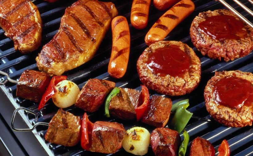 Barbecue Grill Hamburger Grilling Barbecue-Smoker Charcoal, PNG, 1269x787px, Barbecue Grill, Animal Source Foods, Barbecue, Barbecue Restaurant, Barbecuesmoker Download Free