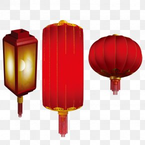 Chinese New Year Red Lanterns Free Buckle Material - Lantern Chinese New Year Red PNG