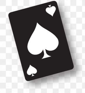 Spades Lite Playing Card Pip Ace PNG