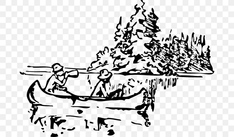 Clip Art: Transportation Canoe Vector Graphics Openclipart, PNG, 682x480px, Canoe, Art, Blackandwhite, Boat, Boating Download Free