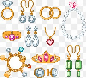 Jewelry - Jewellery Cartoon Necklace Clip Art PNG