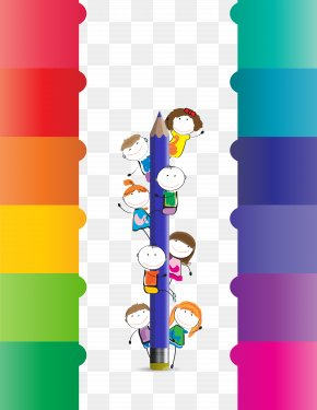 Vector Color Pencil Villain - Paper Pencil Conayca District PNG