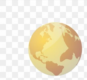 Yellow Planet - Earth Planet Euclidean Vector PNG