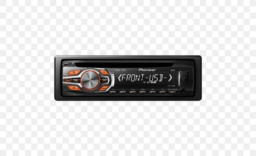 Vehicle Audio Pioneer DEH 7300BT Car Pioneer DEH P4600MP Pioneer DEH 1400UB  CD Receiver, PNG, 500x500px,FAVPNG.com