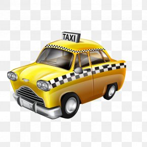 Cartoon Taxi - Taxi Yellow Cab Clip Art PNG