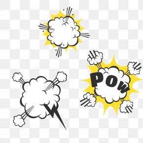 POW Comics Explosion Bubble - Cloud Bubble Lightning PNG