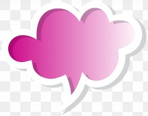 Speech Bubble Cloud Pink Clip Art Image - Speech Balloon Clip Art PNG