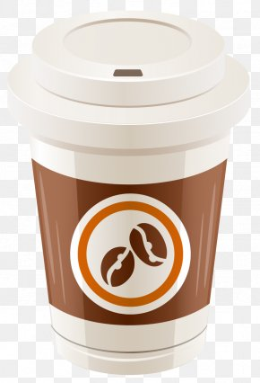 Plastic Coffee Cup Vector Clipart - Coffee Cup Clip Art PNG