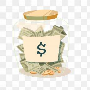 Vector Glass Piggy Bank - Saving Money Piggy Bank Clip Art PNG