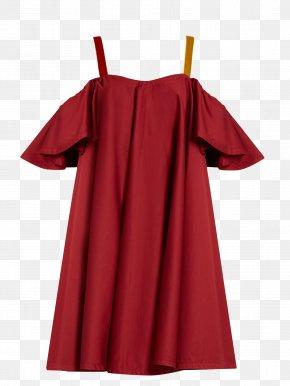 Festive Red Dress - Dress Sleeve Neckline Top Maroon PNG