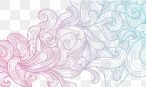 The Gradient Vector Hand-painted Shading - Euclidean Vector Line Gradient Shading PNG