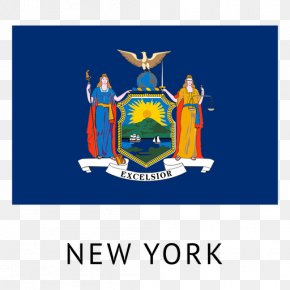 Flag - Flags Of New York City Coat Of Arms Of New York State Flag PNG