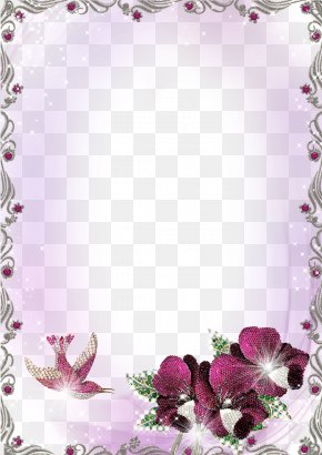 Purple Border Frame Clipart - Picture Frame Image File Formats Clip Art PNG