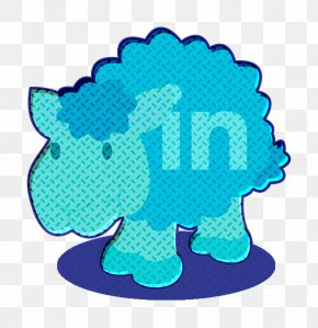Turquoise Social Network Icon - Linkedin Icon Sheep Icon Social Network Icon PNG